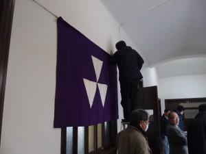 校旗の設置