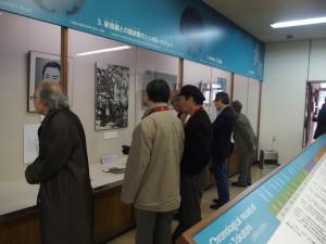 徳富記念館内にて(1)