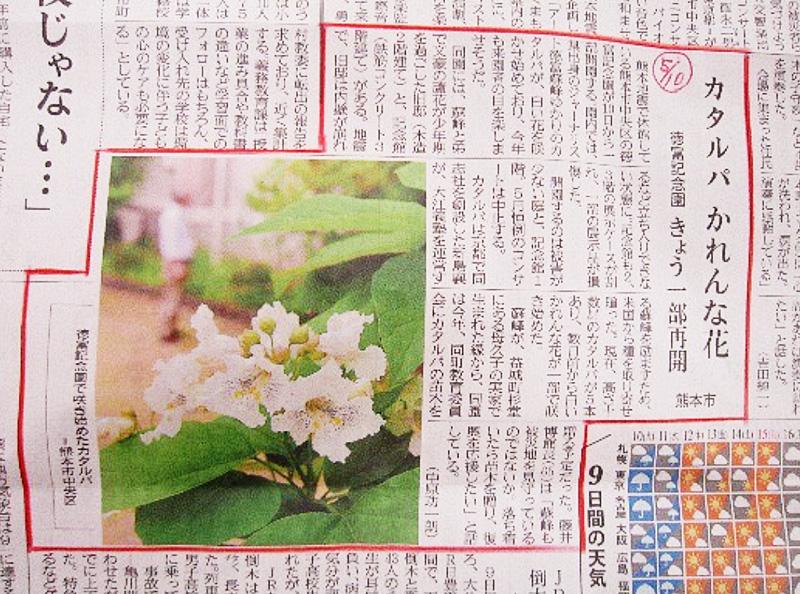 5月10日 熊本日日新聞